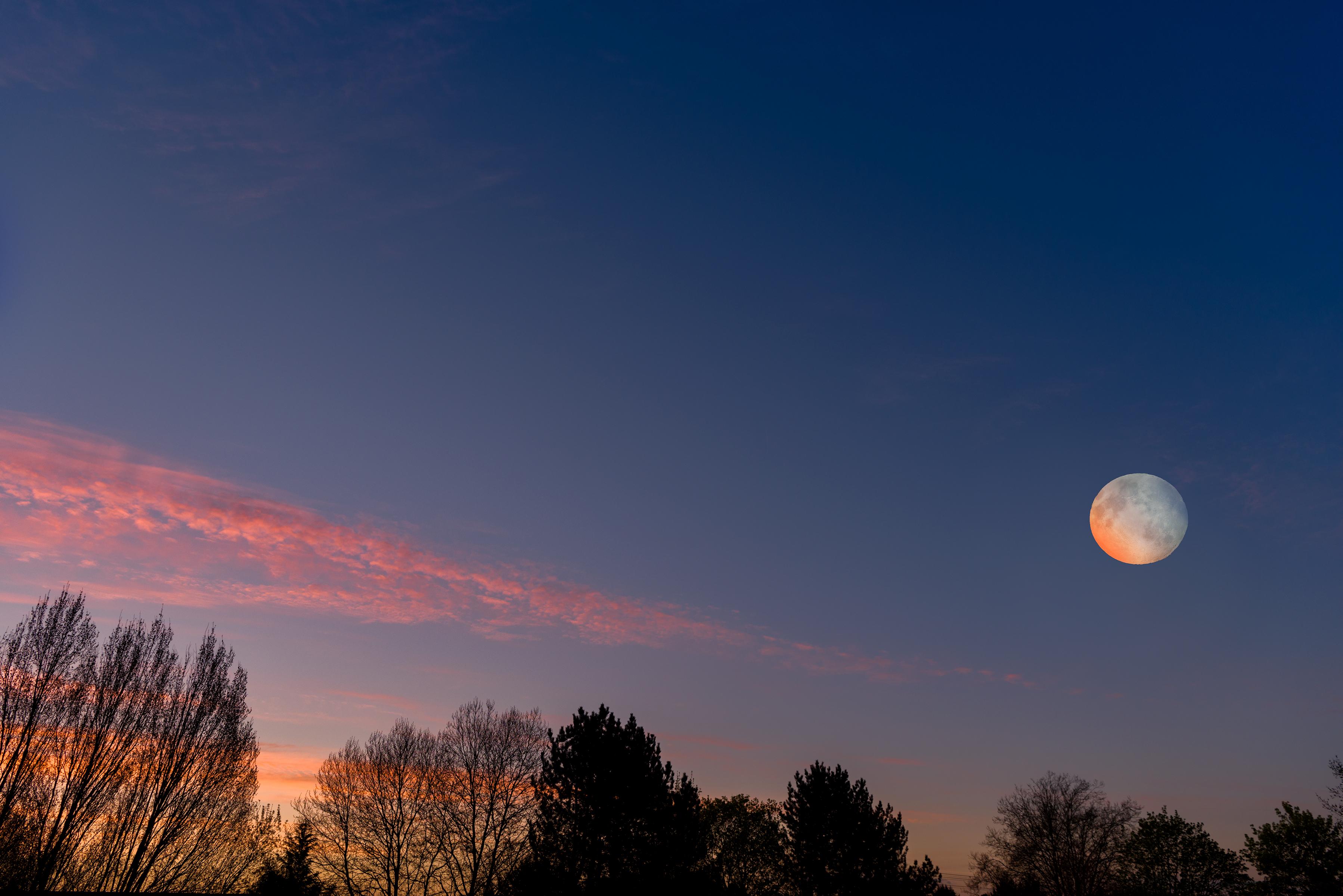 Sunrise Moon Composite